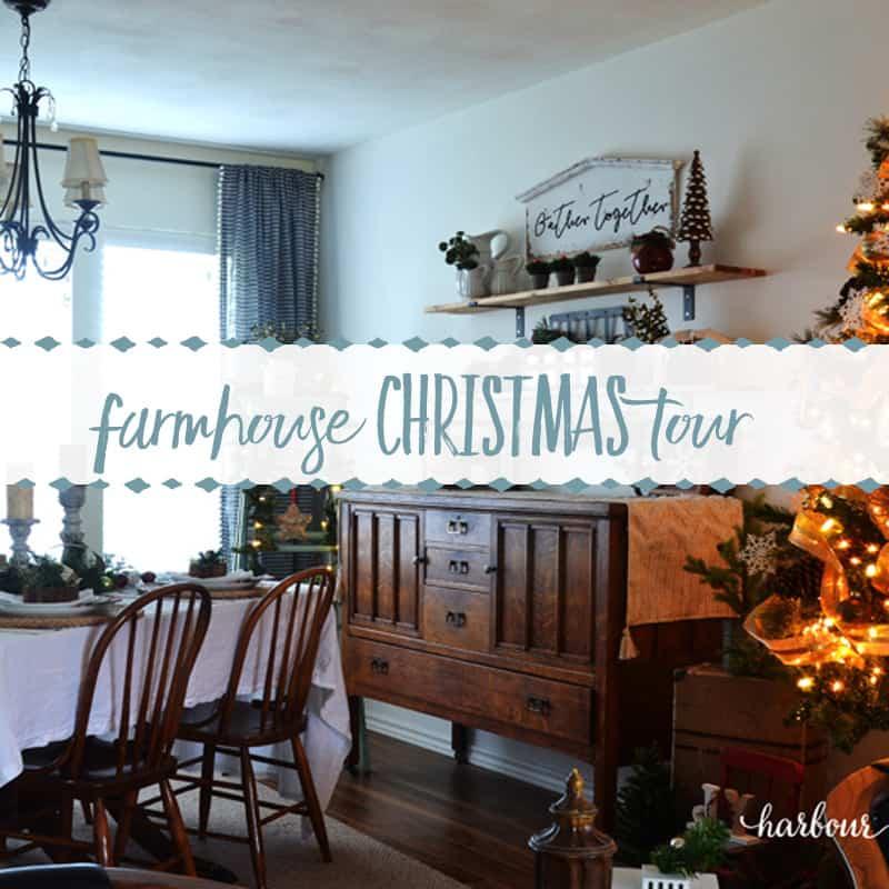 A Farmhouse Christmas Tour (in a Townhouse!)