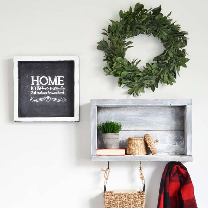 3 Creative Ways to Use a DIY Rustic Wall Shelf with Hooks in Small Spaces