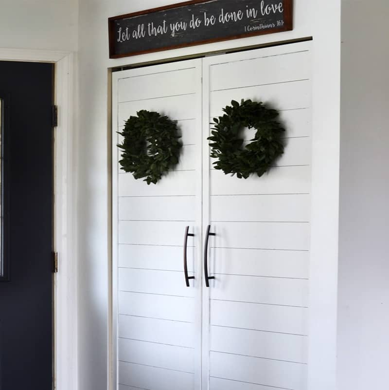 5 Ways to Give a Small Entryway Closet Farmhouse Charm