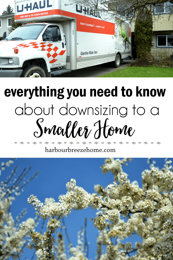 Downsizing to a Smaller Home| Are you considering downsizing to a smaller home? Or perhaps trying to convince your aging parents to do so? Here are some of the best tips and practical advice for the process.#moving #smallspaces #retirement #emptynest