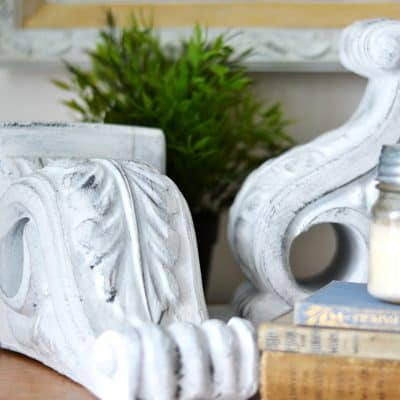 A Beginner's Guide to DIY Farmhouse Style Painted Foam Corbels