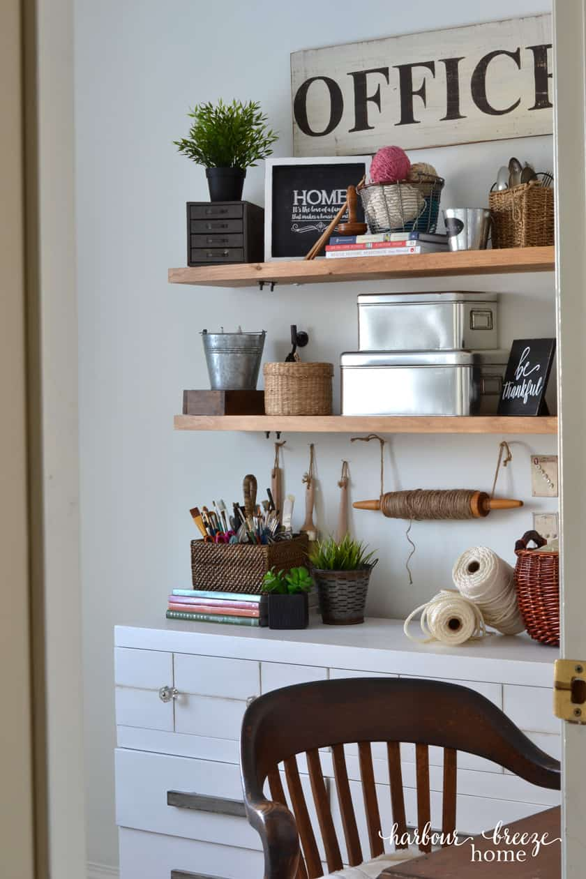 The Happily Ever After Farmhouse Craft Room Office Reveal Harbour Breeze Home