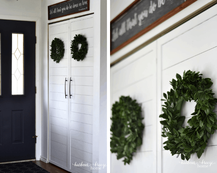 homestyle gathering 4 entry way closet with wreaths