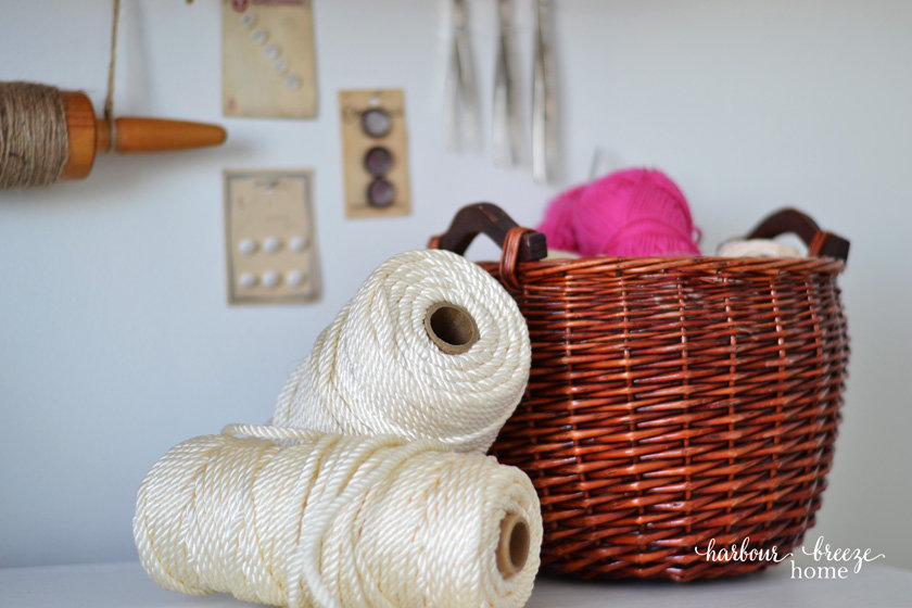 """Craft supply organization - like this basket of yarn - would be the konmari category """"komono"""", or miscellaneous"""