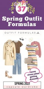 Spring 2021 Outfit Formulas program - Spring Capsule Wardrobe