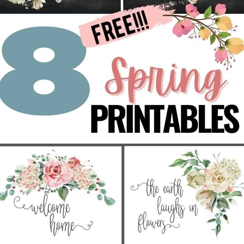Free Farmhouse Printables with Flowers