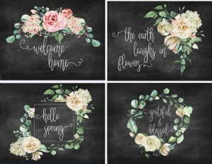 Free Chalkboard Printables for Spring