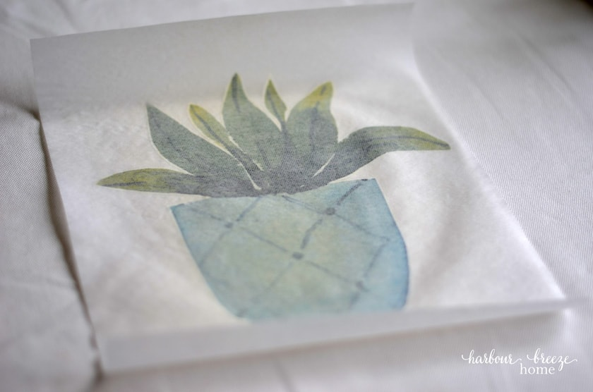 How to use iron on transfers from Avery to make home decor pillow covers