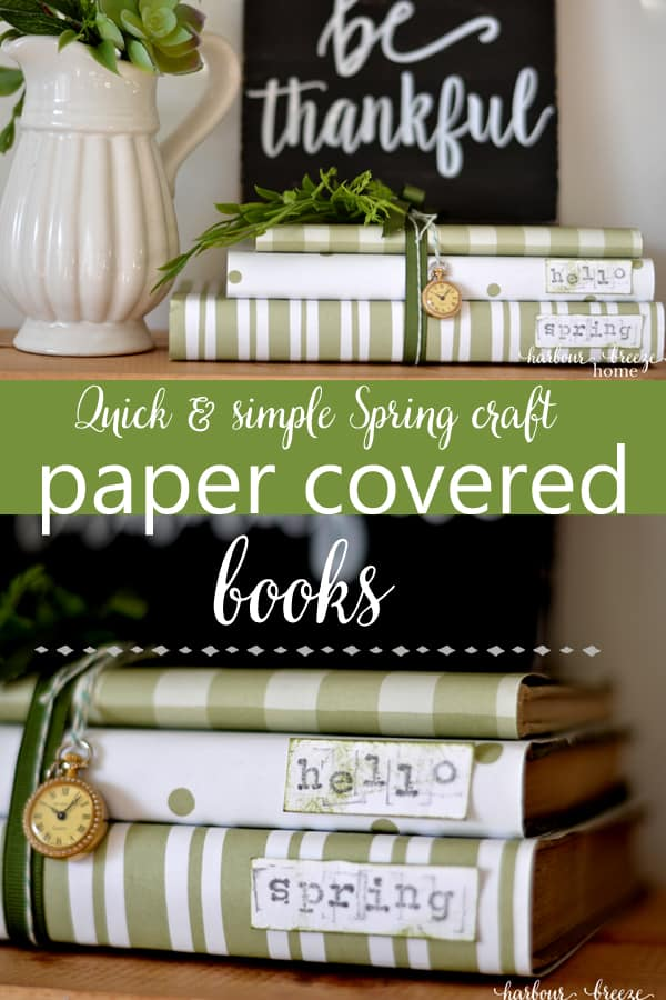 A Quick & Simple Spring Craft ~ Paper Covered Books