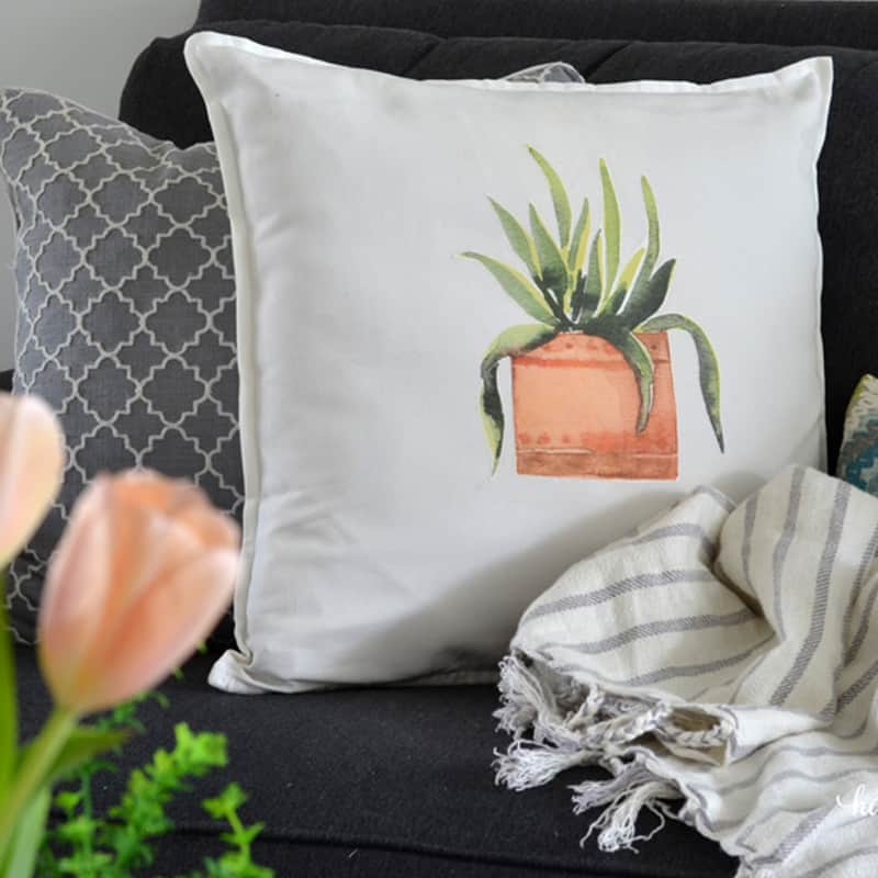 How to Make Spring Throw Pillows in Under 10 Minutes Using Free Printables