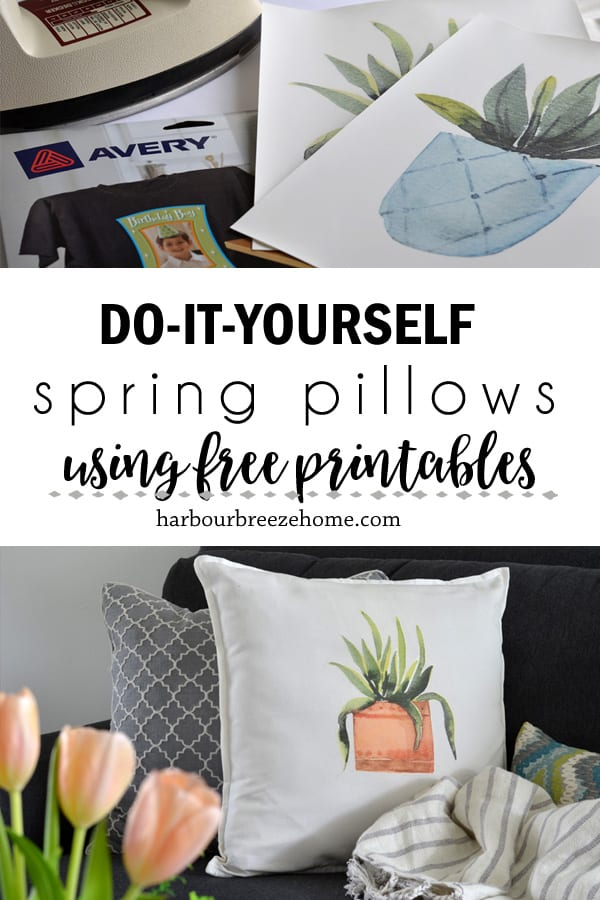 How to Make Spring Throw Pillows using free printables