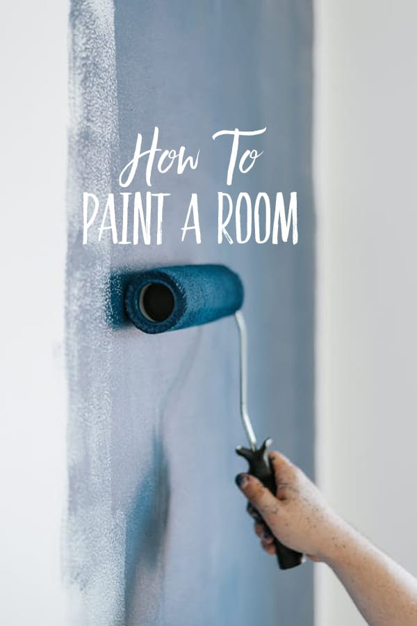 A step by step tutorial guide on how to paint a room from start to finish