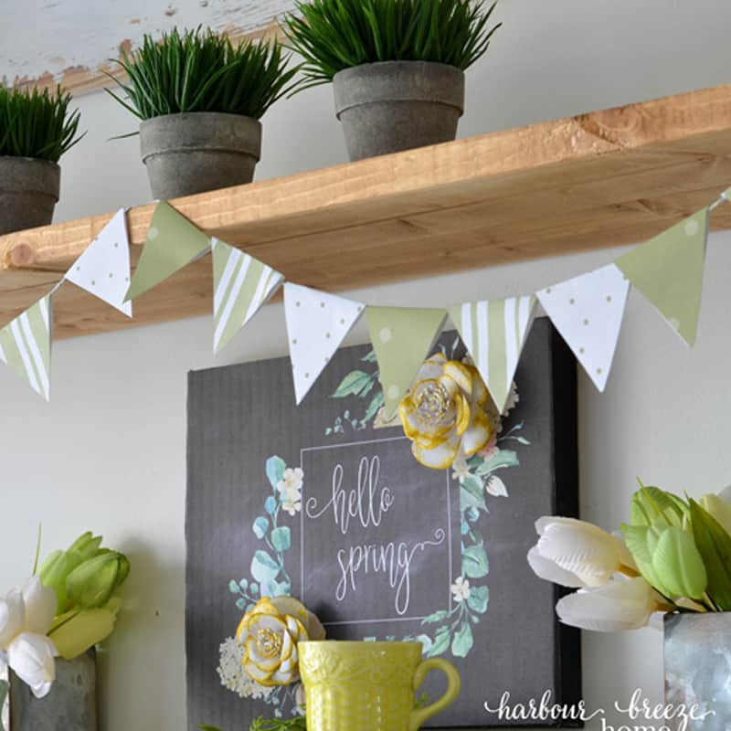 DIY Paper Triangle Bunting Banner