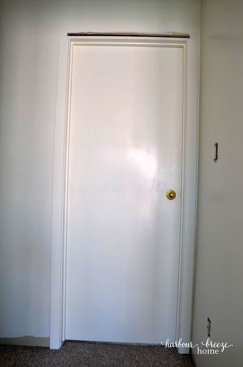 Door with both side trims attached