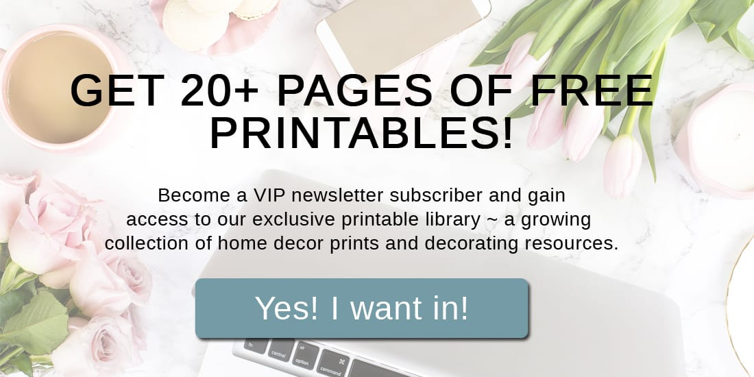 Sign up on this form to become a VIP newsletter member and receive instant access to the free printables library.