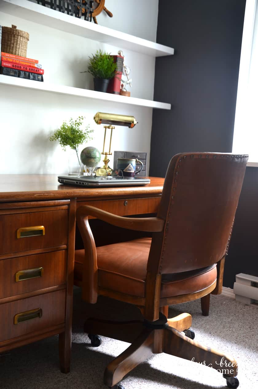 Rustic Office Desk and chair