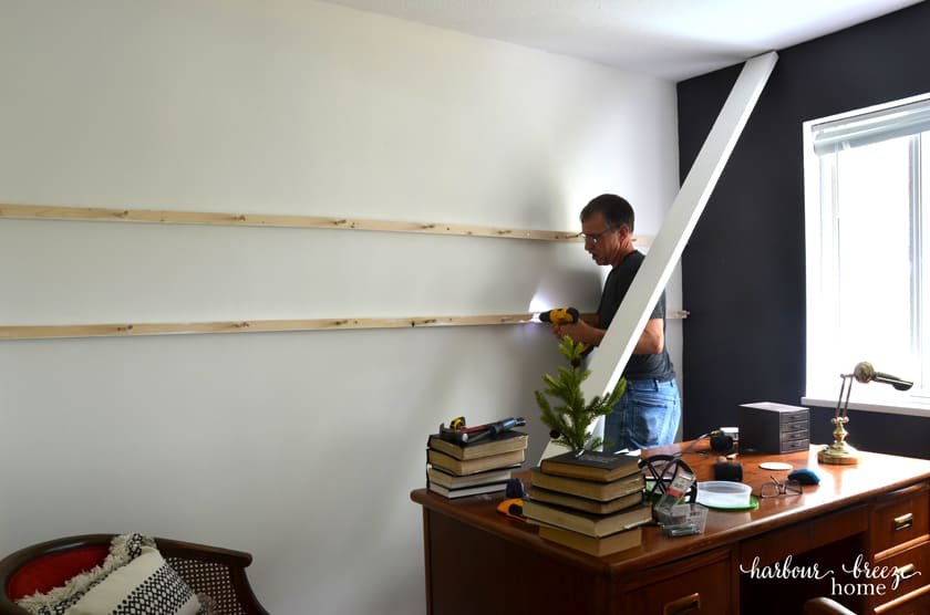 how to hang a long floating shelf