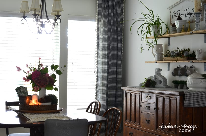 Farmhouse Dining Room with Fall Decor