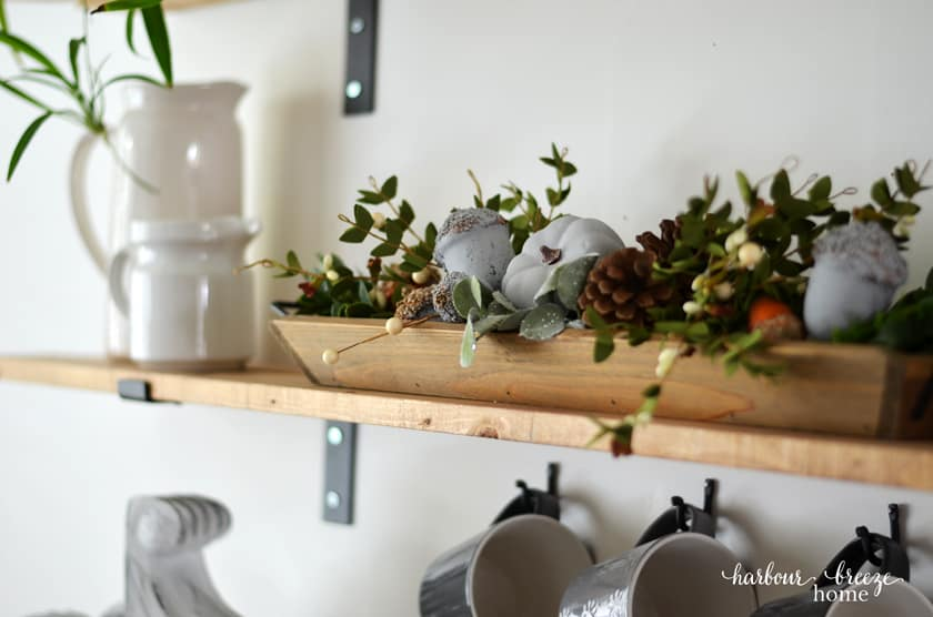 Decor on Farmhouse Shelves