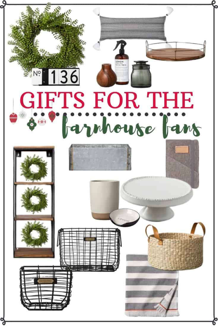 Best Farmhouse Decor Gifts - Holiday Gift Guide for Her 2019