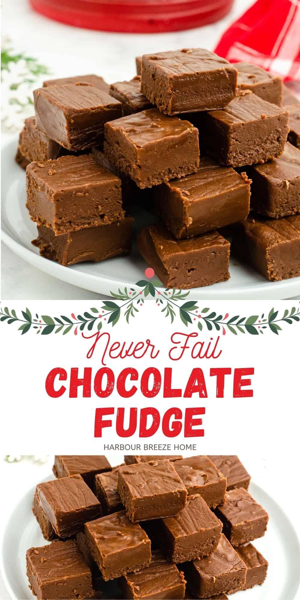 Chocolate Fudge Recipe - Easy and No Fail!