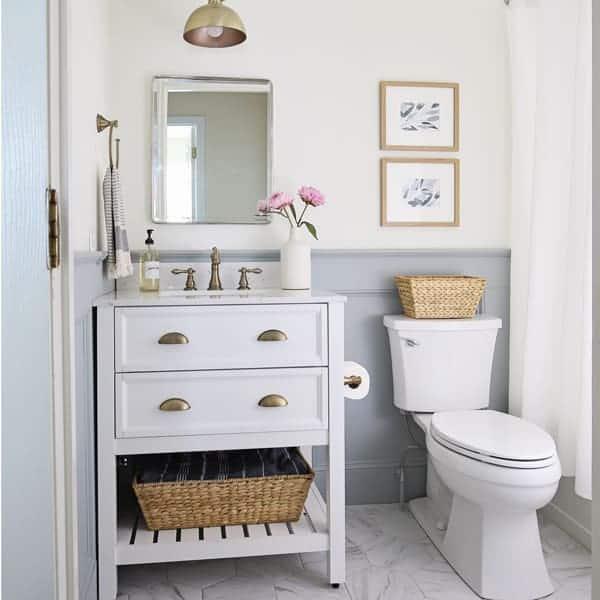 Small Bathroom Makeover Reveal - Angela Marie Made
