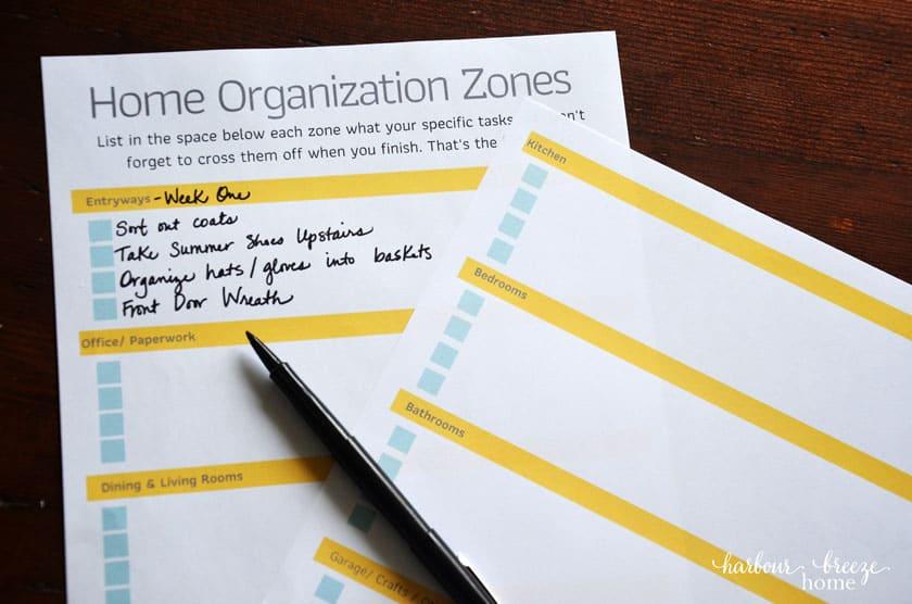 Free Printable Home Organization Checklists