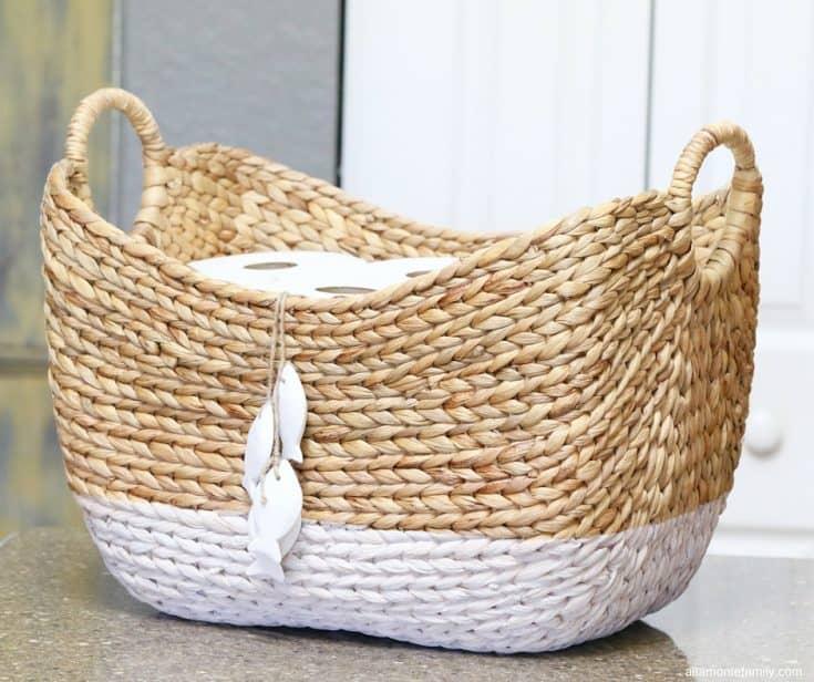 DIY Toilet Paper Storage Basket