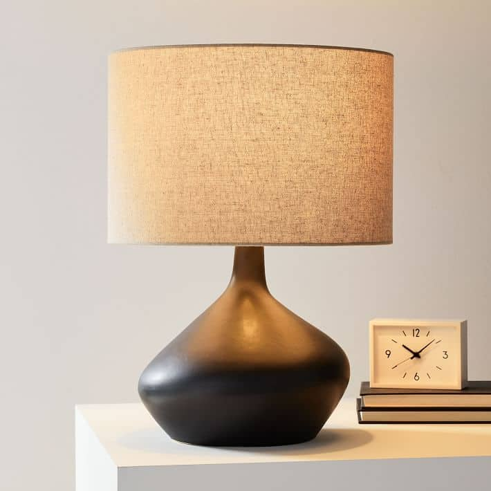 West Elm Asymmetry Ceramic Table Lamp