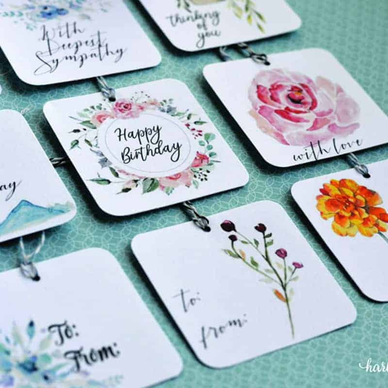 9 Free Printable Gift Tags for Sympathy and All Occassions