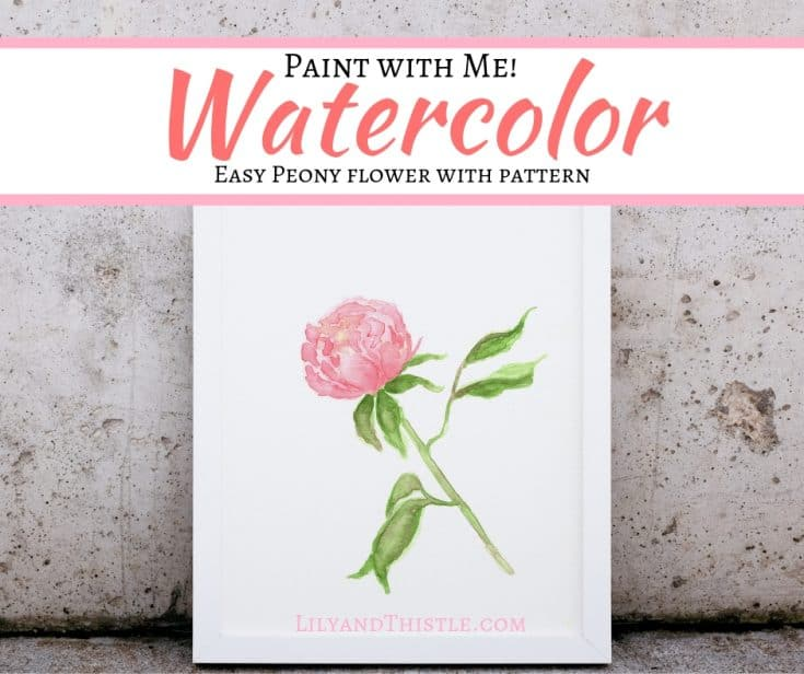 How to Paint a Watercolor Peony Flower for Beginners