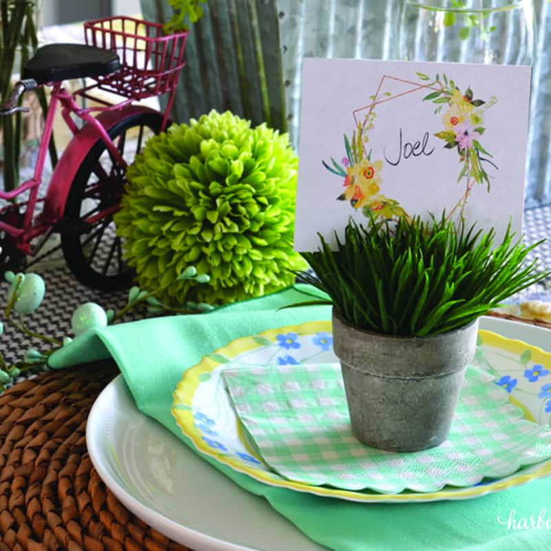 Celebrate the Season with a Spring Centerpiece and Tablescape