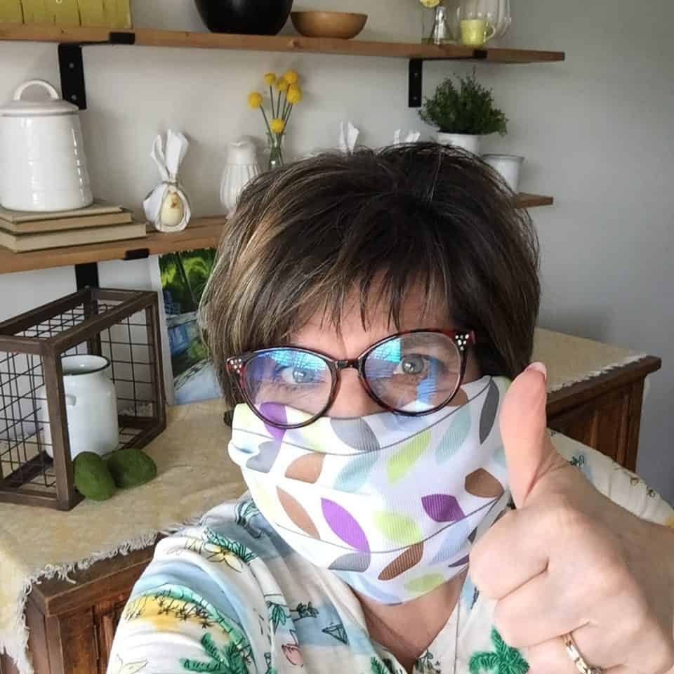 DIY No Sew Face Mask Using Norwex Cloth