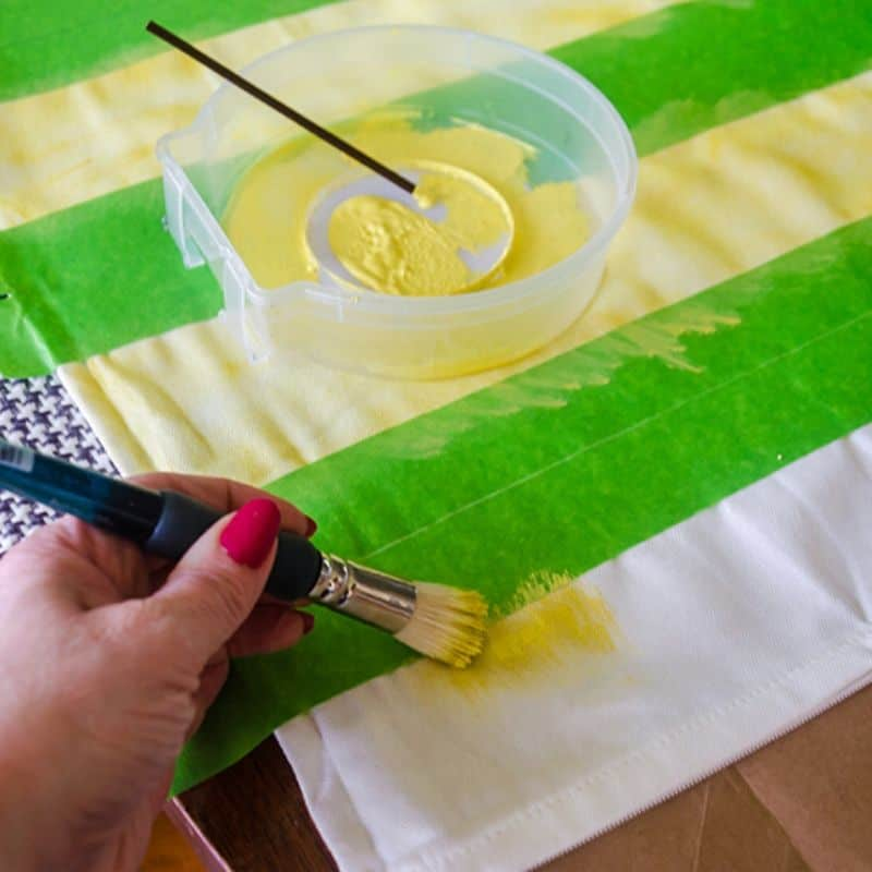 How To Make a DIY Striped Pillow Quick!