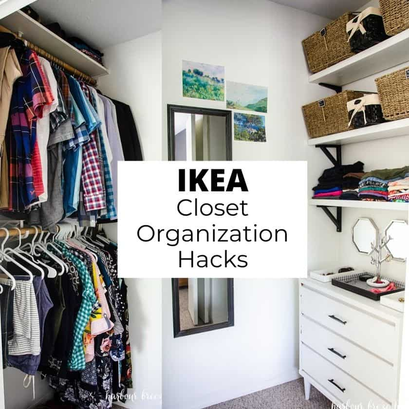 Ridiculously Simple Small Closet Organization Ikea Hacks