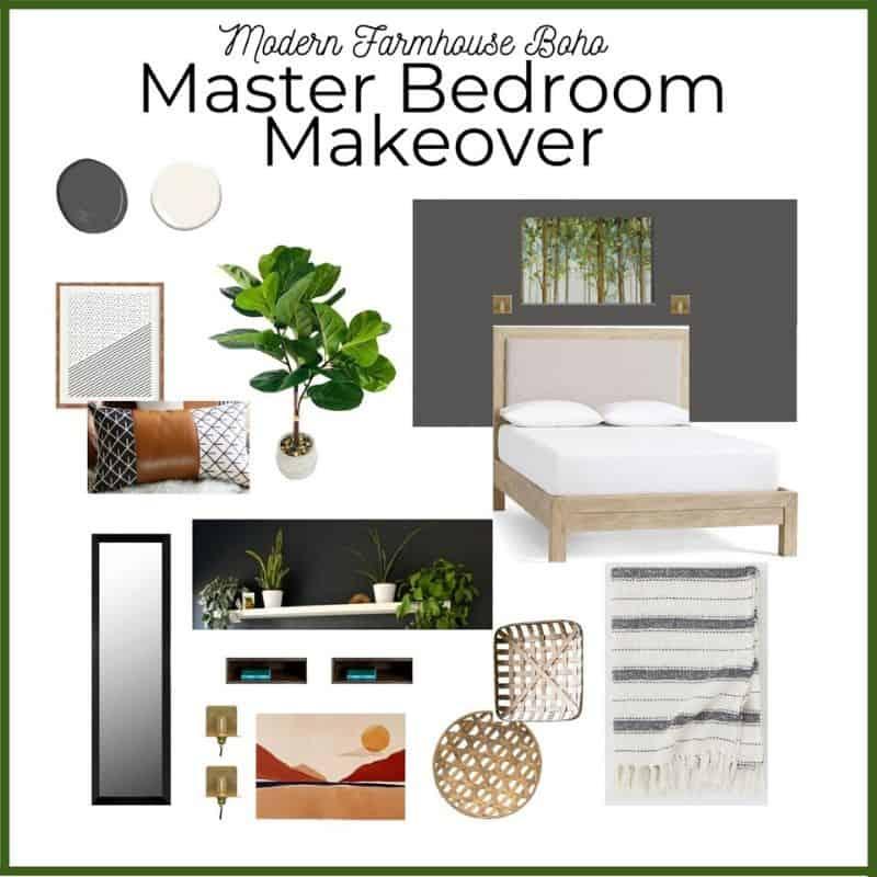 Modern Farmhouse Boho Master Bedroom Makeover Plans