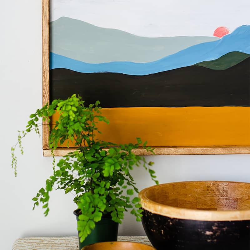 DIY Boho Landscape Painting