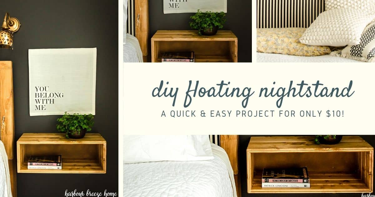 diy floating nightstand for