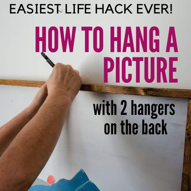 How to Hang a Picture with 2 Hangers in Drywall