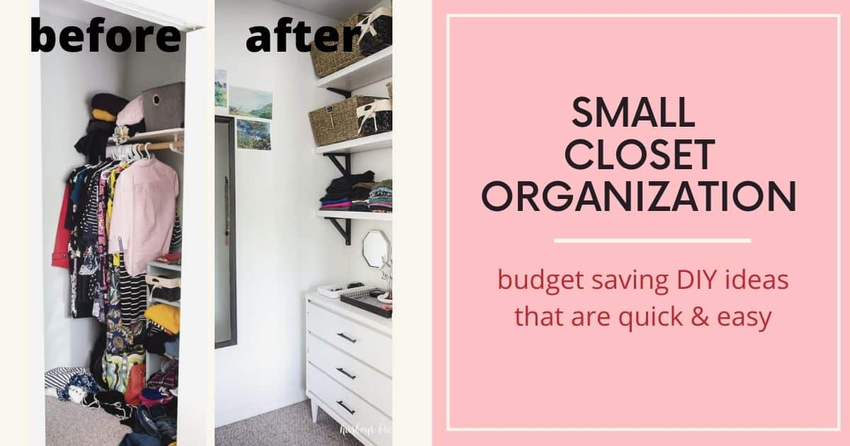 Easy Small Closet Organization Ikea Hacks Harbour Breeze Home