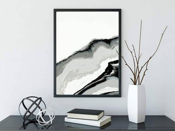 Gorgeous and FREE Geode Printable Wall Art