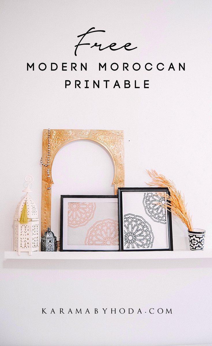Holistic Home Decor + Lifestyle | Mind, Body + Home BLOG FREE Modern Moroccan Wall Art Printable