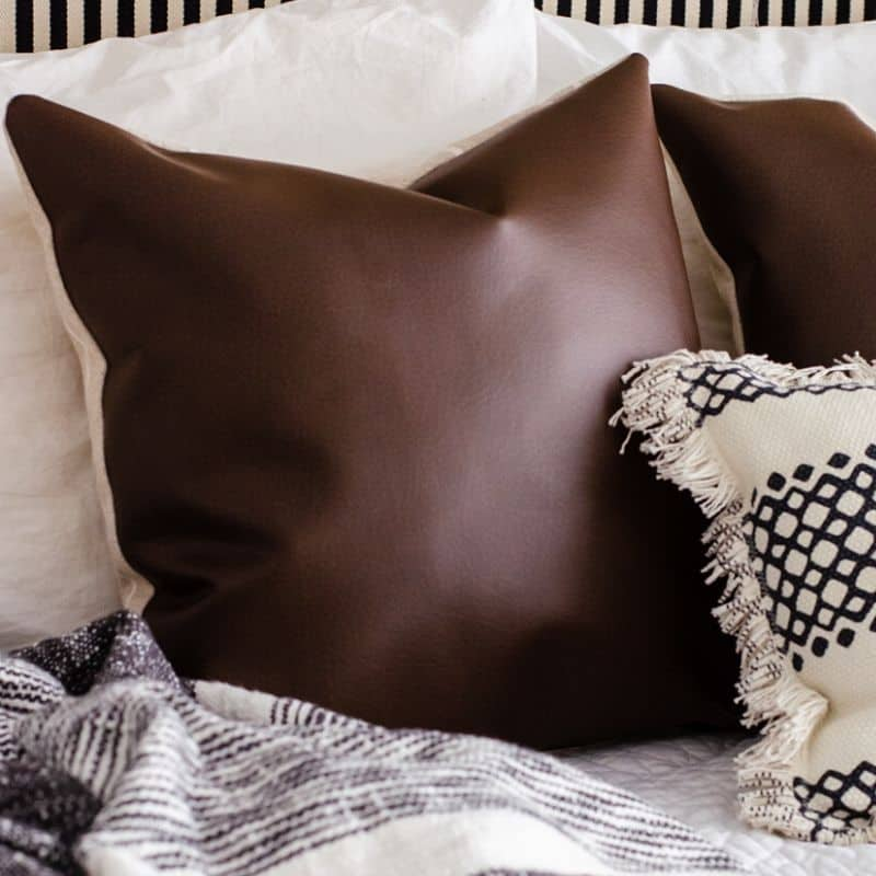 How to Make Faux Leather Pillow Covers with Zipper Closures
