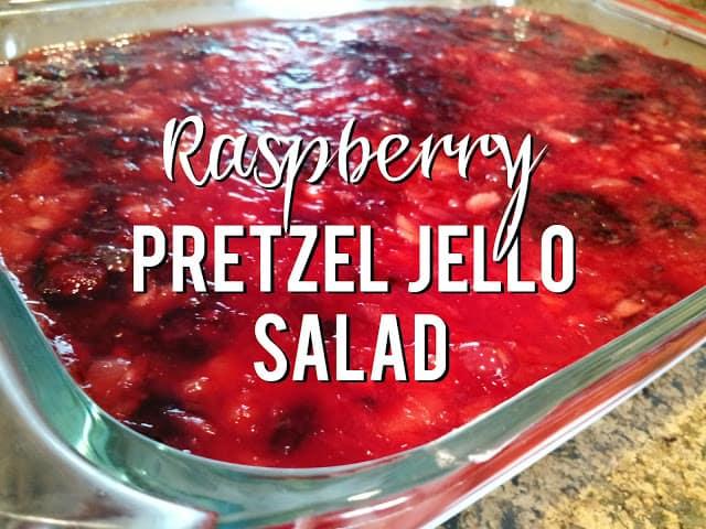 Raspberry Pretzel Jello Salad
