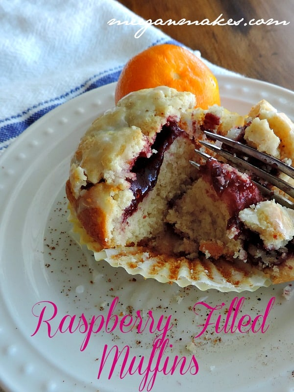 Raspberry Filled Muffins