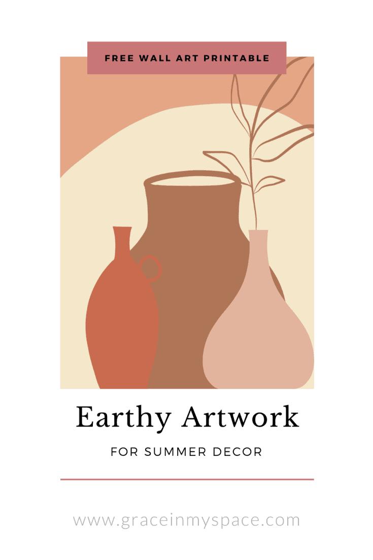 Earthy Artwork | Free Printable Wall Art