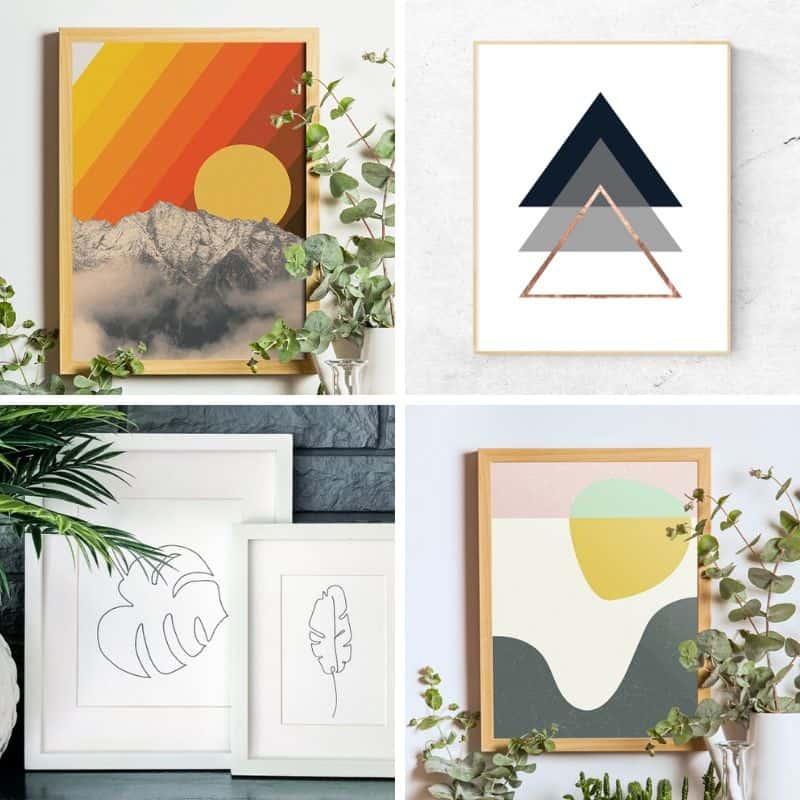 15+ Free Modern Boho Wall Art Printables