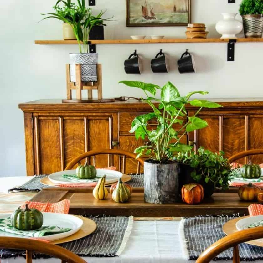 Quick & Easy Boho Style Fall Table Decor