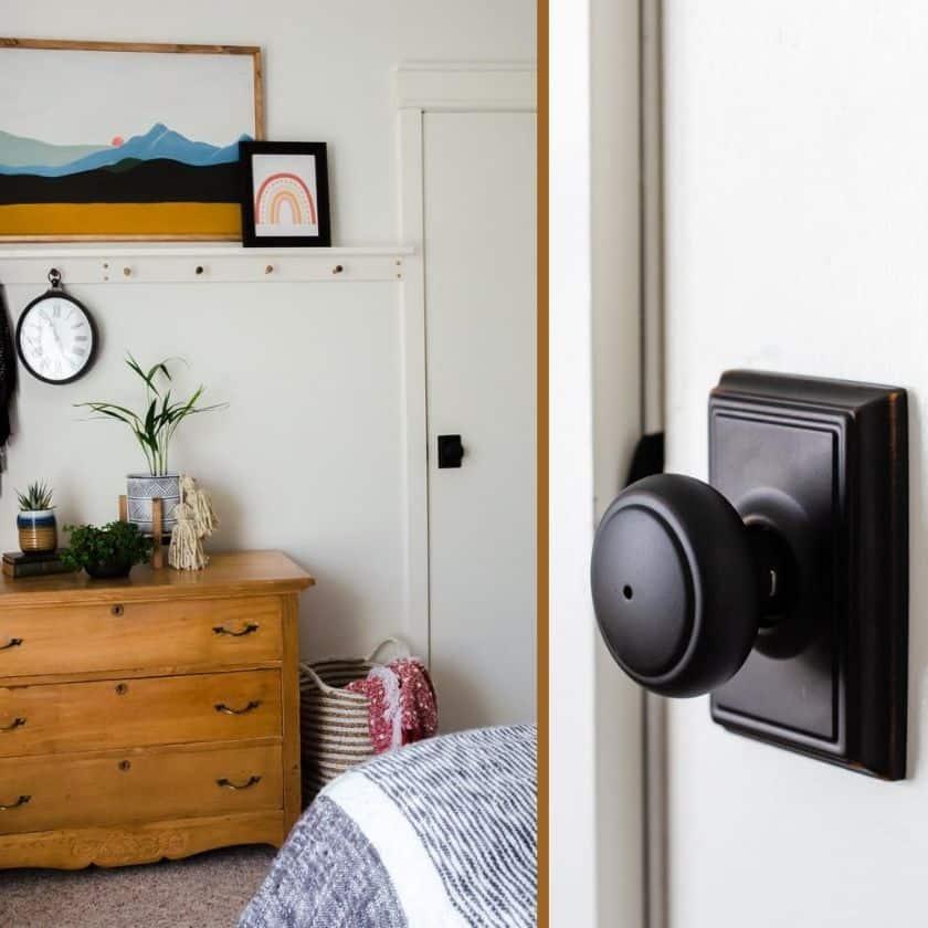 Update Bedroom Door Knobs for a Modern Look!