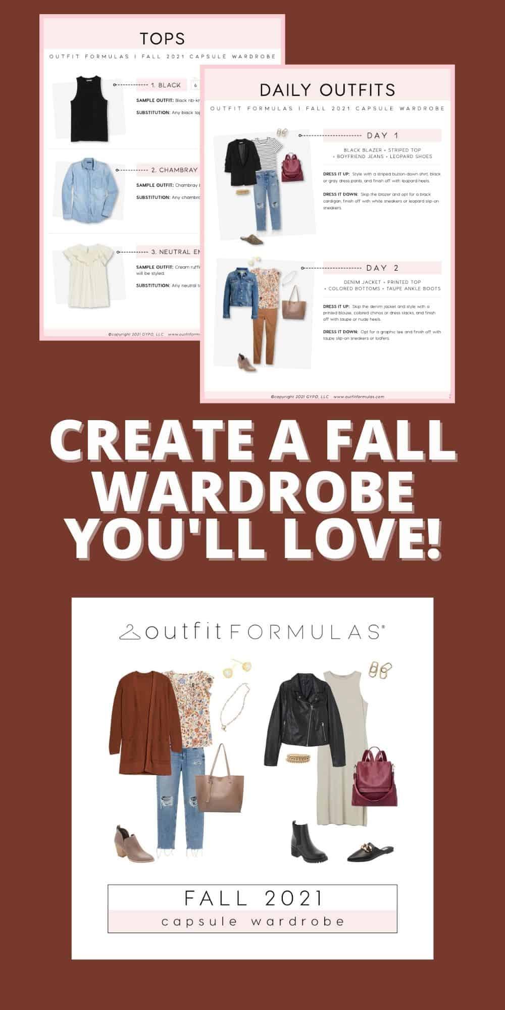 Fall Capsule Wardrobe outfit formulas guide